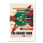 Nasa Space Poster, Retro Wall Art, Space Travel Poster - The Grand Tour in Space