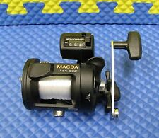 Okuma Magda Line Counter Trolling Reel Pre-Spooled 15lb/240yd Mono MA 20D