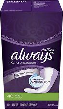 Always Dailies Xtra Protection Long Liners 40 ea
