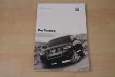 68987) VW Touareg - Preise & Extras - Prospekt 12/2003