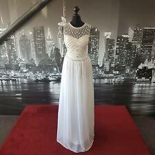 Sequinned Dress (Ivory-Size 10) Prom, Cruise, Ball, Bridesmaid, Wedding etc