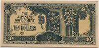 JAPON - 10 DOLLARS 1940 - Billet de banque // SUP