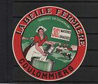 Ancienne étiquette Fromage Coulommiers La Belle Fermière Femme Champagne