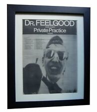 DR FEELGOOD+Private Practice+POSTER+AD+RARE ORIG 1978+FRAMED+EXPRESS GLOBAL SHIP
