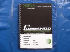 NORTON COMMANDO 750/850 WORKSHOP MANUAL 1970 TO 1974