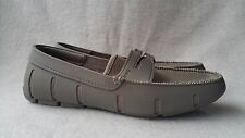 NWOB SWIMS Penny Boat Loafers Moccasins Drivers Khaki Gray Grey Mens Shoes 8 9