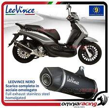 Leovince Nero Terminale scarico completo inox Piaggio Beverly 300 2010>2016