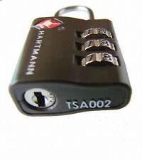 New Hartmann Dark Brown TSA 002 Secure Luggage Combination Lock