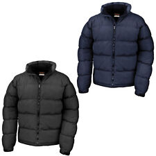 New RESULT Mens Urban Holkham Down Feel Puffer Jacket in Black Navy S - 3XL