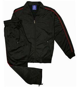 Men's Classic Retro Full Jogging Suit Plain Tracksuit Outfit