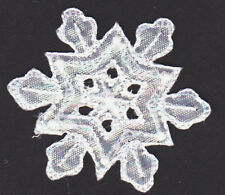 ID 8108 Snowflake Emblem Patch Winter Christmas Ice Embroidered Iron On Applique