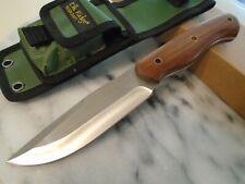 Elk Ridge Bushcraft Hunter Bowie Combat Knife 4mm Full Tang Hardwood ER-544WD