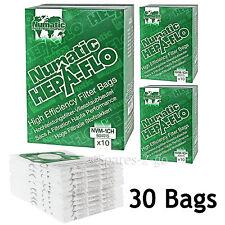30 Genuine Numatic HENRY HETTY Bags HEPA FLO HEPAFLO Vacuum Cloth Hoover Bag