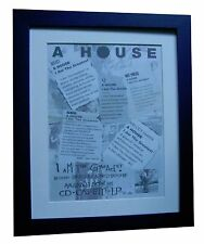 A HOUSE+I Am The Greatest+POSTER+AD+RARE ORIGINAL 1992+FRAMED+FAST GLOBAL SHIP