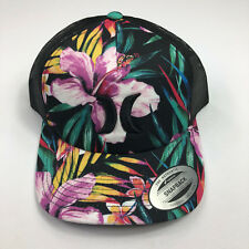 5545f50b459 Men s Hurley Classic Garden Floral Trucker Hat Black Purple Multi Color