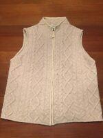 Medium Orvis Cable Knit Sweater Vest Zipper
