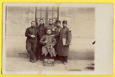 cpa France Carte Photo MILITAIRES SOLDATS du 24e Régiment BUREAU des VIVRES