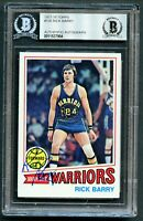 Rick Barry #130 signed autograph auto 1977-78 Topps Basketball Card BAS Slabbed