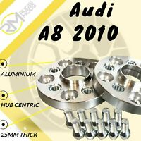 Audi A8 2010 on 25mm Alloy Hubcentric Wheel Spacers 5x112 66.6 1 pair