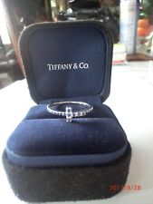"""Athentic Tiffany 18k White Gold Sapphire Band Ring Size""""8"""