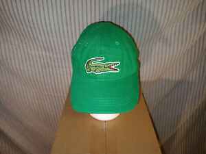 (H52) LaCoste Baseball Cap, One Size Adjustable, NWT, Green