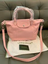 LONGCHAMP Le Pliage Cuir Small Leather Top Handle Tote Girls/Light Pink NWT