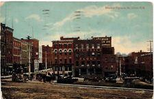 Postcard Canada 1918 St John Market Square New Brunswick