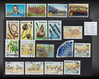 BOTSWANA LOT USED CIRCULATED + CTO  STAMPS SCOT VALUE MORE 72 US$