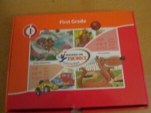 Hooked on Phonics FIRST GRADE LEARN TO READ Orange Red COMPLETE SET  - Used once