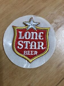 Lone Star Beer Shield Logo  Sew On Stick On Embroidered Patch