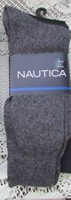 NAUTICA  Black/Navy/Gray  3 pk Socks   - Shoe size 8 to 12 NWT