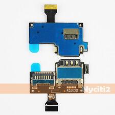 Sim Tray Holder SD Card Slot Flex for Samsung Galaxy S4 Mini LTE i9190 i9195