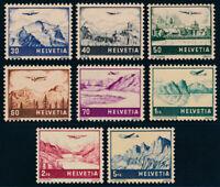SCHWEIZ 1941, MiNr. 387-394, 387-94, tadellos postfrisch, Mi. 100,-