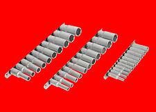 """3 x ZOLL Stecknuss Satz Zöllige Steckschlüssel Für 1/4"""" 3/8"""" 1/2"""" Ratsche BGS"""