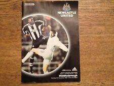 Football Programme - Newcastle Utd v Middlesbrough Premiership 4th November 2002