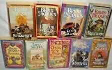 Redwall Series by Brian Jacques Series 9 PB Lot Books Marlfox,Taggerung,Luke