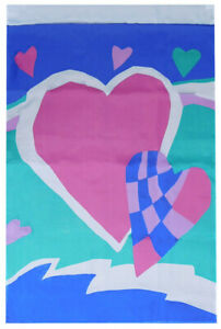 """Valentine Day Hearts Banner 28x40 28""""x40"""" Polyester Flag Banner With Sleeve"""