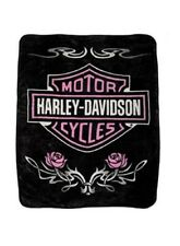 Harley Davidson Pink Tattoo Twin Blanket