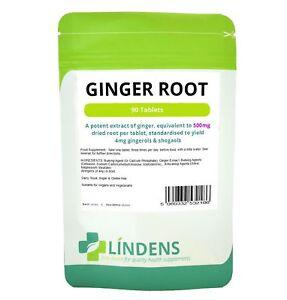 Ginger Root 500mg (90 pack) standardised for gingerols & shogaols Lindens