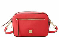 NWT DOONEY & BOURKE Camera Zip Crossbody Saffiano Leather - Tomato (Red)