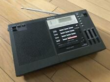 SONY  ICF-2001 Synthesizer Radio Shortwave AM FM With AC Adapter From Japan Rare