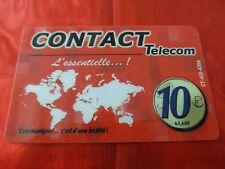 RARE TELECARTE - CONTACT TELECOM - GUADELOUPE - CARTE MONDE - 10 EUROS - TTBE