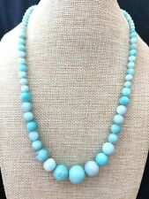 "Jay King Peruvian Amazonite Bead 18"" Sterling Silver Necklace NWT"