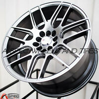 17X9 F1R F18 WHEEL 5x100/114.3 +25MM HYPER BLACK RIM FITS TOYOTA COROLLA 2003-12