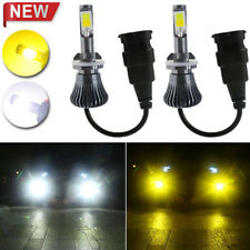 Car Headlight Bulbs(led) Car Lights Brilliant Dual Color 6000k White 3000k Yellow 880 Car Led Fog Light For Car Truck Suv Products Are Sold Without Limitations
