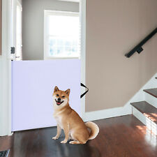 Baby Pet Safety Gate Retractable Dog Barrier Folding Home Doorway Stair Guard