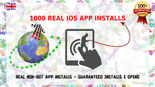 1000 Real guaranteed Wolrdwide iOS / iPhone mobile app installs and opens