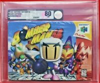 Bomberman 64 Nintendo N64 WATA VGA Graded 80 Silver Brand New Factory Seal Rare