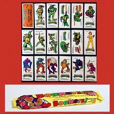 Vintage 1989 BONKERS CANDY WRAPPER *TMNT Promotion WITH STICKER SET 18/18