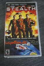 Stealth (Sony PSP UMD Movie Playstation Portable) Complete With Wipeout Pure